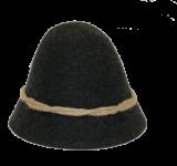 Geishut - schwarz
