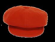 Ballonkappe mit Schild - orange