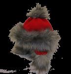 Eskimohaube mit Ohren - rot